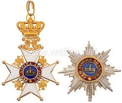 Mecklenburg-Schwerin Hausorden der Wendischen Krone - Großkreuz Großkreuz Satz mit der Krone in Erz