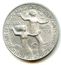 """NS.- Gemeinschaft """" Kraft durch Freude """" ( K.d.F.) - Urlaubsfahrten 1938 - DAF/KdF Gau Württemberg-Hohenzollern"""