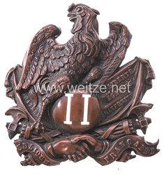 Frankreich 2. Republik -Beschlag für den Tschako Mannschaften Nationalgarde