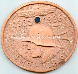 """Wehrmacht Heer - Erinnerungsplakette - """" 4.M.G.K. I.R.61 1936-1936 """""""