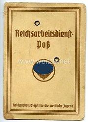 Reichsarbeitsdienst ( RAD ) - Reichsarbeitsdienstpaß für die weibliche Jugend