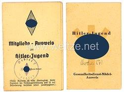 HJ Gebiet Nordsee ( 7 ) - Dokumentenpaar für ein Mädel des Jahrgangs 1927 aus Papenburg