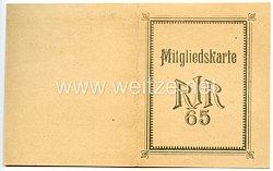 Weimarer Republik - Kameradschaftliche Vereinigung ehem. Angehöriger des Reserve-Infanterie-Regiments Nr.65 - Mitgliedskarte