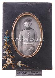 Preußen Kabinettfoto eines Dragoners im Einsteckrahmen
