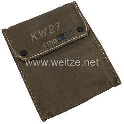 Wehrmacht KW- Kartentaschefür Winkelmesser K.W.27