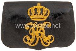 Württemberg Kartuschkasten für Offiziereim Dragoner-Regiment Königin Olga (1. Württembergisches) Nr. 25