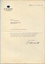 III. Reich - Originalunterschrift von Dr. Otto Hellmuth - Gauleiter von Mainfranken