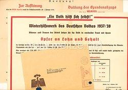 WHW - Winterhilfswerk des Deutschen Volkes 1937/38 - 2 Aushänge