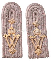 Mecklenburg-Schwerin Paar Schulterstücke für einen Hauptmann im Großherzoglich Mecklenburgischen Füsilier-Regiment Nr. 90 Kaiser Wilhelm
