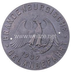 """NSKK - nichttragbare Teilnehmerplakette - """" Brandenburgische Geländefahrt 1939 """""""