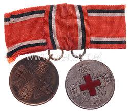 Preussen Rot Kreuz Medaille 2. und 3. Klasse für eine Krankenschwester.