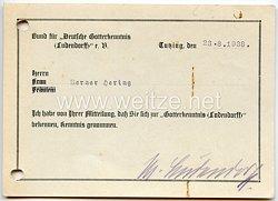 III. Reich - Originalunterschrift von Frau Mathilde Ludendorff