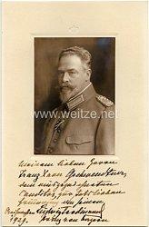 Bayern - Originalunterschrift von Ludwig Ferdinand von Bayern mit Widmung auf einem Geschenkbild
