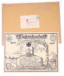 Wehrmacht Heer Gedenkschrift für einen Soldaten 1939 - 1945