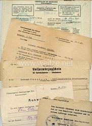 Heer - kleine Dokumentengruppe eines Leutnants der Führerreserve Heeresgruppe Don und im Kampfstab Neu-Saporoshje