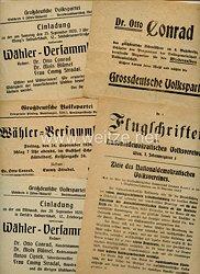 Weimarer Republik - Großdeutsche Volkspartei in Österreich - kleine Dokumentengruppe