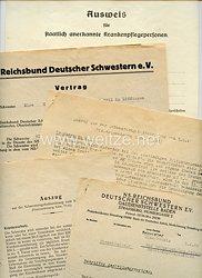 NS-Reichsbund Deutscher Schwestern e.V. - kleine Dokumentengruppe für eine Pflegerin aus Löffingen