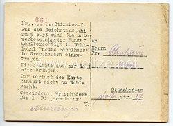 III. Reich - Karte für eine Wahlberechtigte an der Reichstagswahl am 5.3.1933