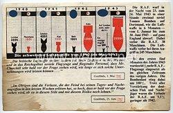 """2. Weltkrieg Propagandaflugblatt - """" Die schwersten Luftangriffe von 1940 bis Mai 1943 """""""