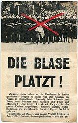 """2. Weltkrieg Propagandaflugblatt - """" Die Blase platzt ! """""""