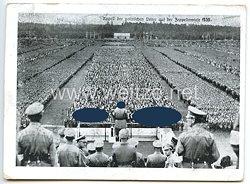 """III. Reich - Propaganda-Postkarte - """" Reichsparteitag 1935 - Appell der politischen Leiter auf der Zeppelinwiese """""""