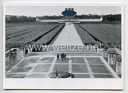 """III. Reich - Propaganda-Postkarte - """" Reichsparteitag 1934 - Das braune Heer ehrt die im Weltkrieg gefallenen Kameraden """""""