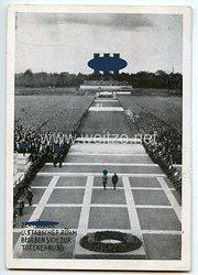 """III. Reich - Propaganda-Postkarte - """" Reichsparteitag 1933 - Der Führer u. Stabschef Röhm begeben sich zur Totenehrung """""""