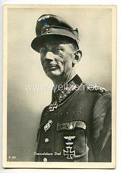 Heer - Portraitpostkarte von Ritterkreuzträger Generaloberst Eduard Dietl