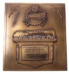 Deutsche Reichsbahn - große Geschenkplakette
