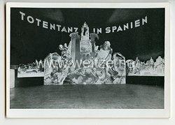 """III. Reich - Propaganda-Postkarte - """" Totentanz in Spanien - Große antibolschewistische Ausstellung der Reichspropagandaleitung der NSDAP """""""