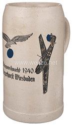 """Luftwaffe - Erinnerungskrug"""" Kriegsweihnacht 1940 Fliegerhorst Wiesbaden """""""