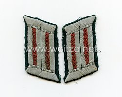 Wehrmacht Heer Paar Kragenspiegel für Offiziere der Artillerie