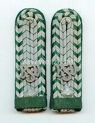 Reichsfinanzverwaltung/Zollgrenschutz Paar Schulterstücke für einen außerplanmäßigen Zollassistent