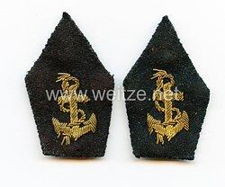Frankreich 2. Weltkrieg Paar Kragenabzeichen für Offiziere der Kolonial - Truppen