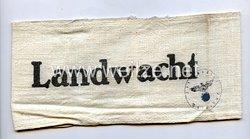 """Polizei Armbinde """"Landwacht"""""""