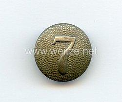 Reichswehr / Wehrmacht Einzel Schulterknopf für einen Soldaten der 7. Kompanie