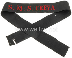 """Mützenband """"S.M.S. Freya"""" für Schiffsjungen in Rot"""