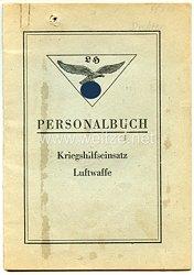 Personalbuch für einen SS-Zögling des Jahrgangs 1928 aus der Ukraine zum Kriegshilfseinsatz bei der Luftwaffe