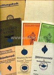 DJ / HJ - Dokumentengruppe für einen Jungen des Jahrgangs 1918 aus Hamburg