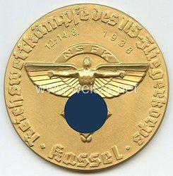 """NSFK - nichttragbare Siegermedaille in Gold - """" NSFK Reichswettkämpfe des NS-Fliegerkorps Kassel 12.-14.8.1938 """""""