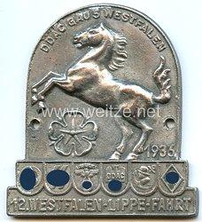 """SA / SS / NSKK / DDAC / HJ / Armee - nichttragbare Teilnehmerplakette - """" DDAC Gau 5 Westfalen 12. Westfalen-Lippe-Fahrt 1936 """""""