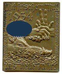 III. Reich - persönliche Geschenkplakette des Reichsjägermeisters Hermann Göring an den Reichsbauernführer Darré zum Neuen Jahr 1934