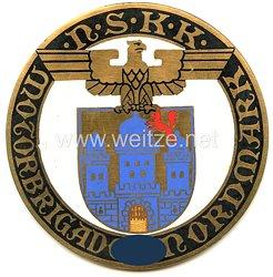 """NSKK - nichttragbare Teilnehmerplakette - """" NSKK Motorbrigade Nordmark Nachtprüfung 23.-24.11.1935 """""""