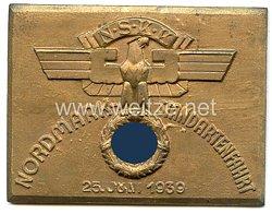 """NSKK - nichttragbare Teilnehmerplakette - """" Nordmark-Standartenfahrt 25. Juni 1939 """""""