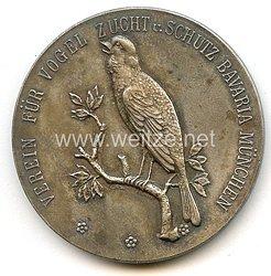 """Verein für Vogel Zucht u. Schutz Bavaria München - nichttragbare Auszeichnungsplakette - """" Für hervorragende Leistungen """""""