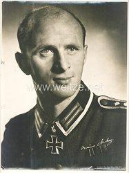 Heer - großes Aushangfoto von Ritterkreuzträger Leutnant Bruno Kohnz