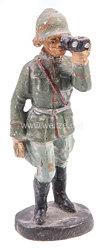 Elastolin - Heer Offizier mit Fernglas stehend beobachtend