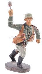 Elastolin - Heer Handgranatenwerfer mit Tragetaschen im Sprung