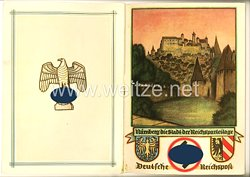 """III. Reich - Deutsche Reichspost - Schmucktelegramm """" Nürnberg die Stadt der Reichsparteitage """""""