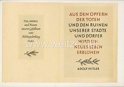 """III. Reich - Gedenkblatt - """" Den Müttern und Frauen unserer Gefallenen zum Muttertag 1944 """""""